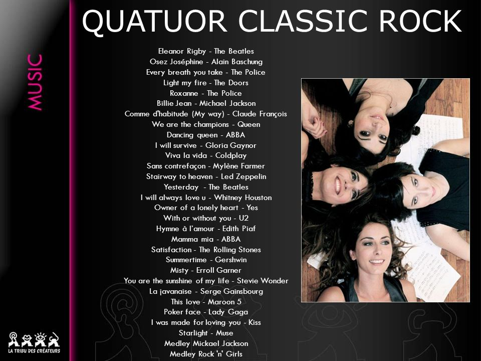 QUATUOR CLASSIC ROCK Eleanor Rigby - The Beatles