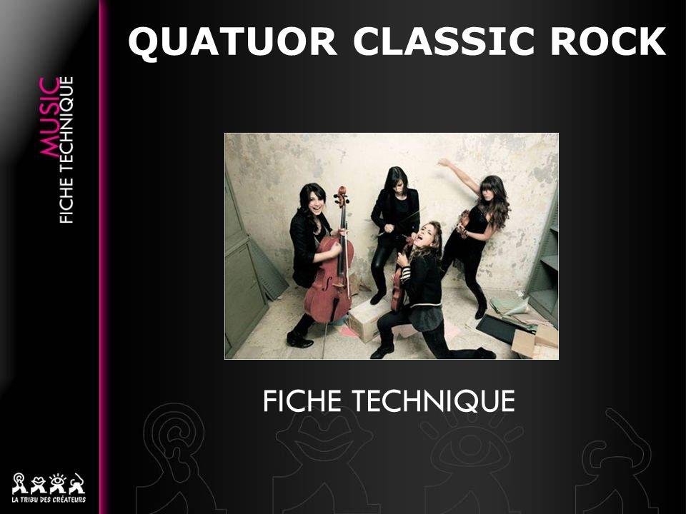 QUATUOR CLASSIC ROCK FICHE TECHNIQUE 12