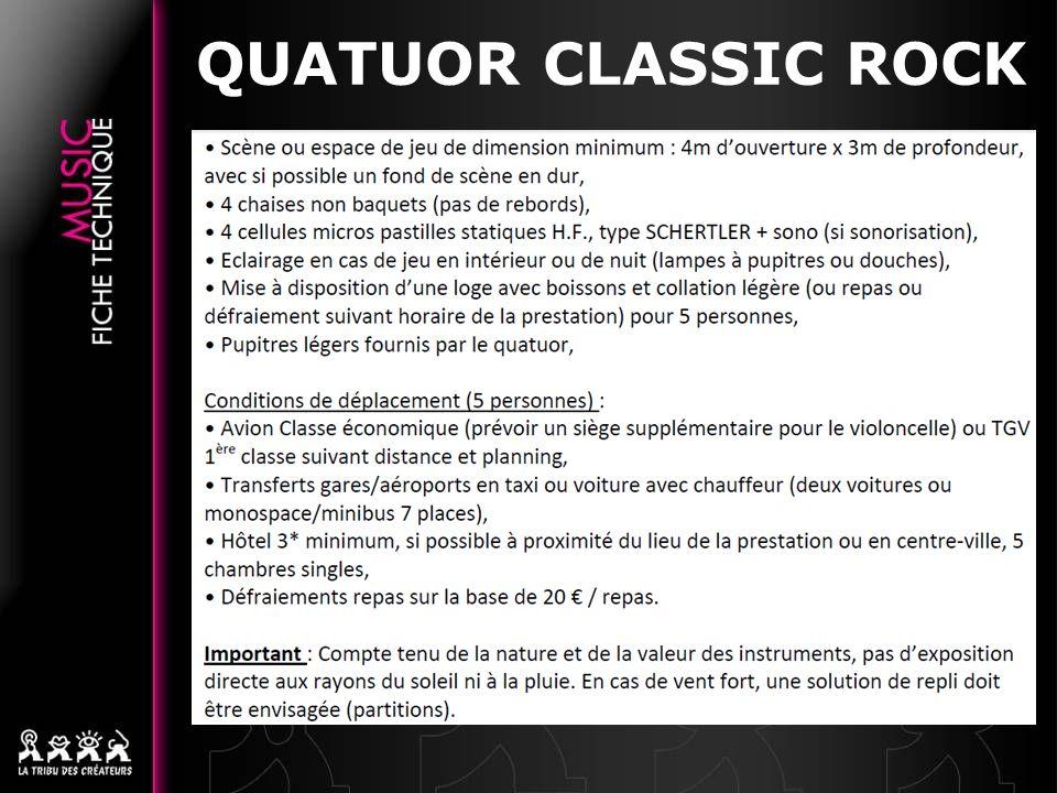 QUATUOR CLASSIC ROCK 13