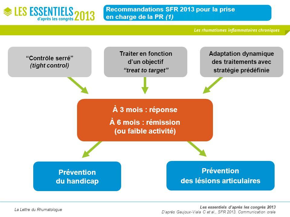 Recommandations SFR 2013 pour la prise en charge de la PR (1)