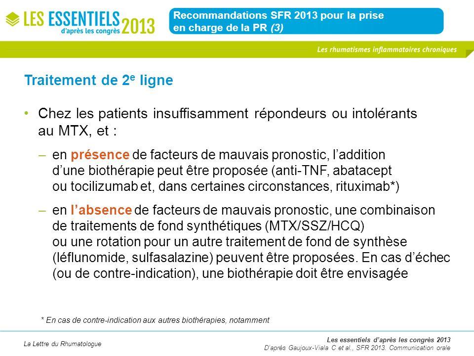 Recommandations SFR 2013 pour la prise en charge de la PR (3)