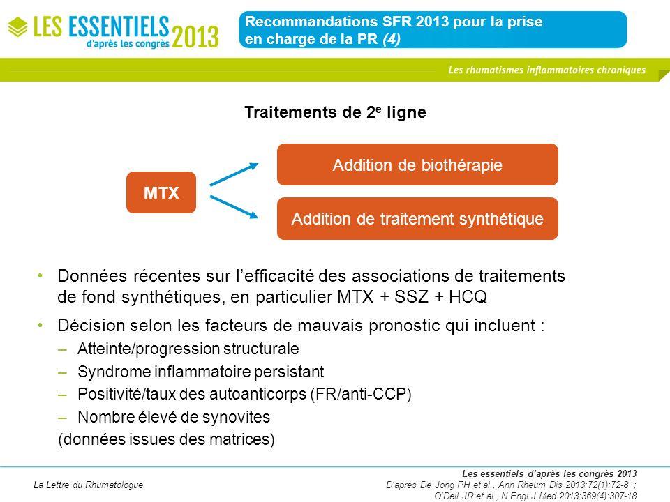 Recommandations SFR 2013 pour la prise en charge de la PR (4)