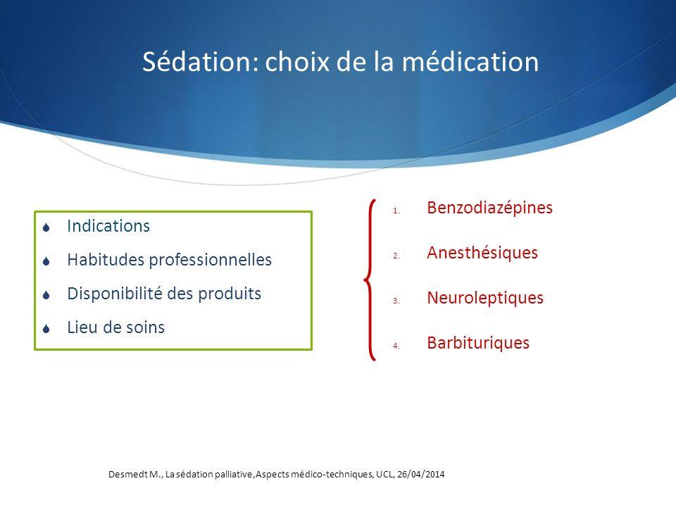 Sédation: choix de la médication