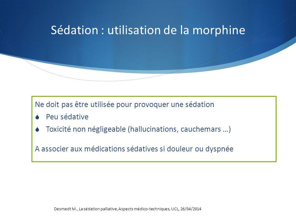 Sédation : utilisation de la morphine