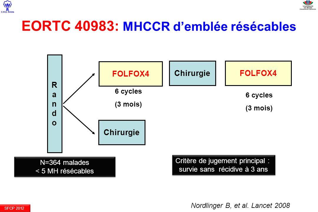EORTC 40983: MHCCR d'emblée résécables