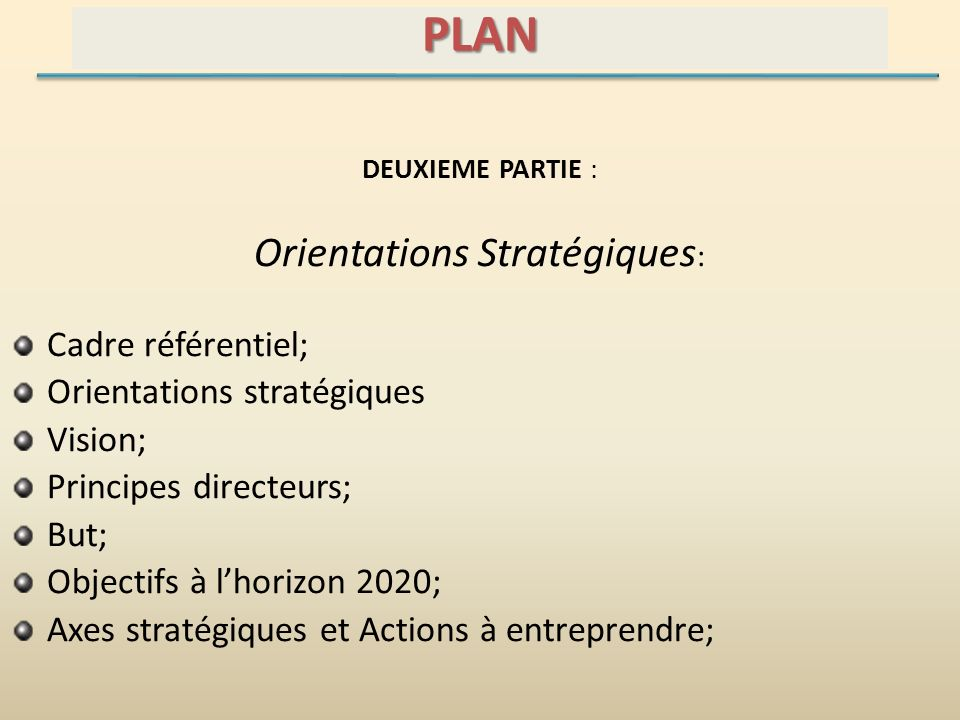 Orientations Stratégiques:
