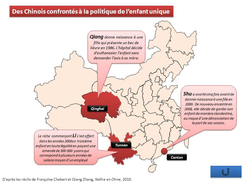 Des Chinois confrontés à la politique de l'enfant unique