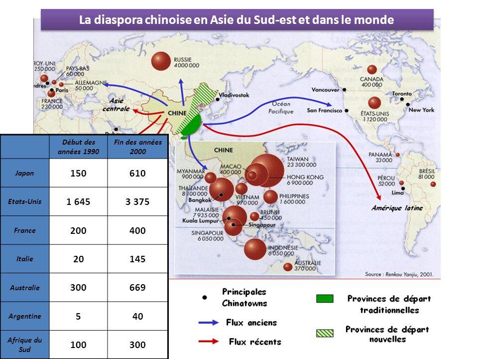La diaspora chinoise en Asie du Sud-est et dans le monde