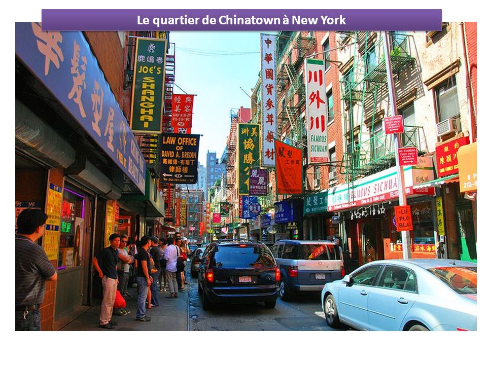 Le quartier de Chinatown à New York