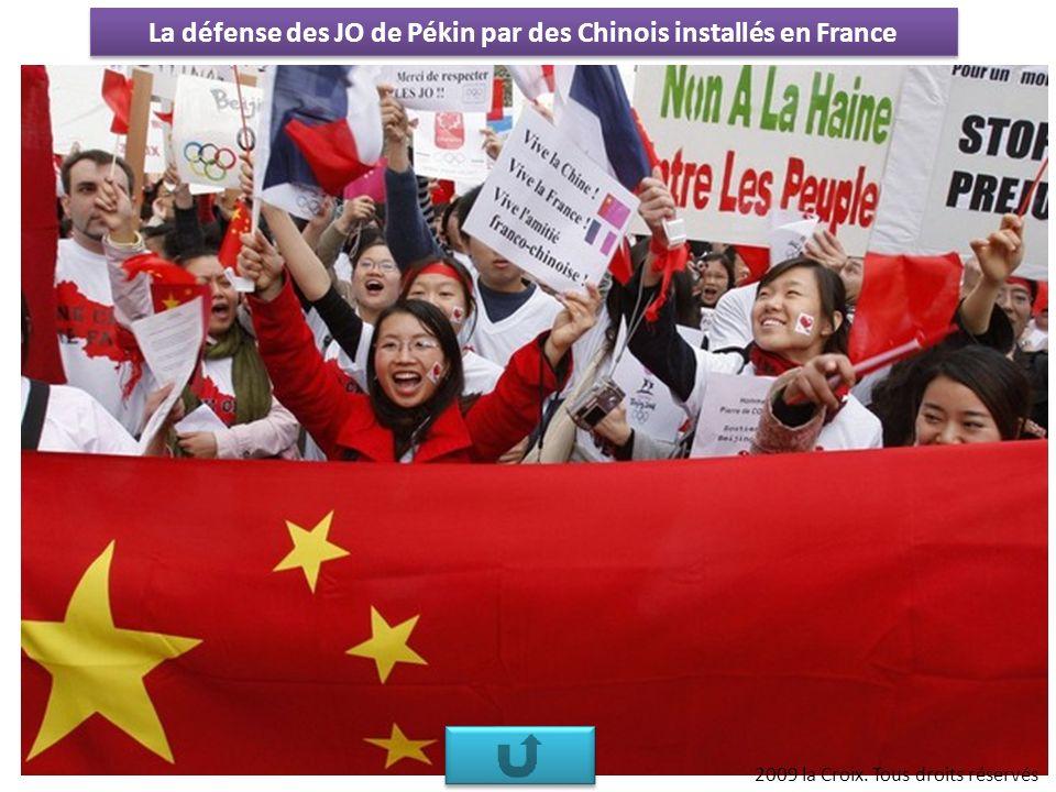La défense des JO de Pékin par des Chinois installés en France