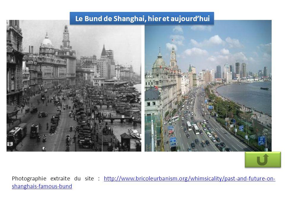 Le Bund de Shanghai, hier et aujourd'hui