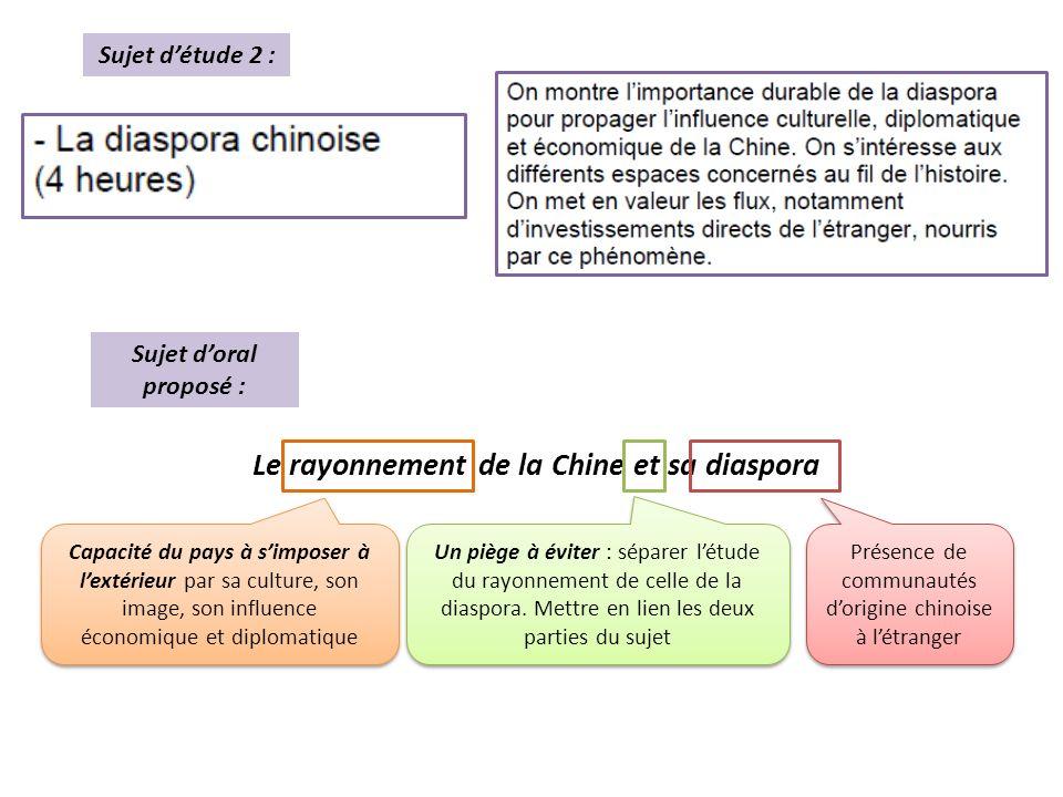 Le rayonnement de la Chine et sa diaspora