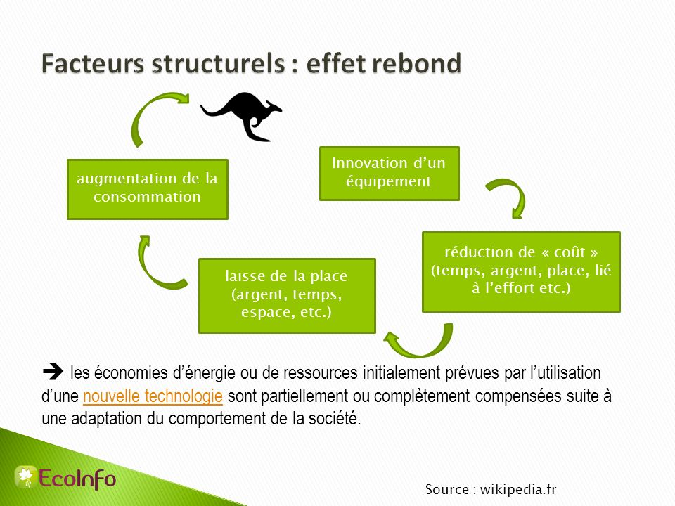 Facteurs structurels : effet rebond
