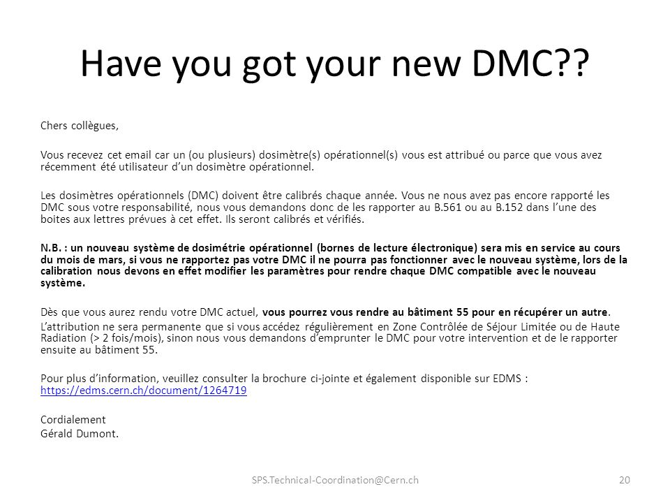 Have you got your new DMC