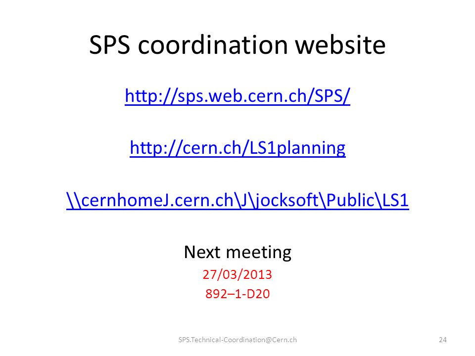 SPS coordination website