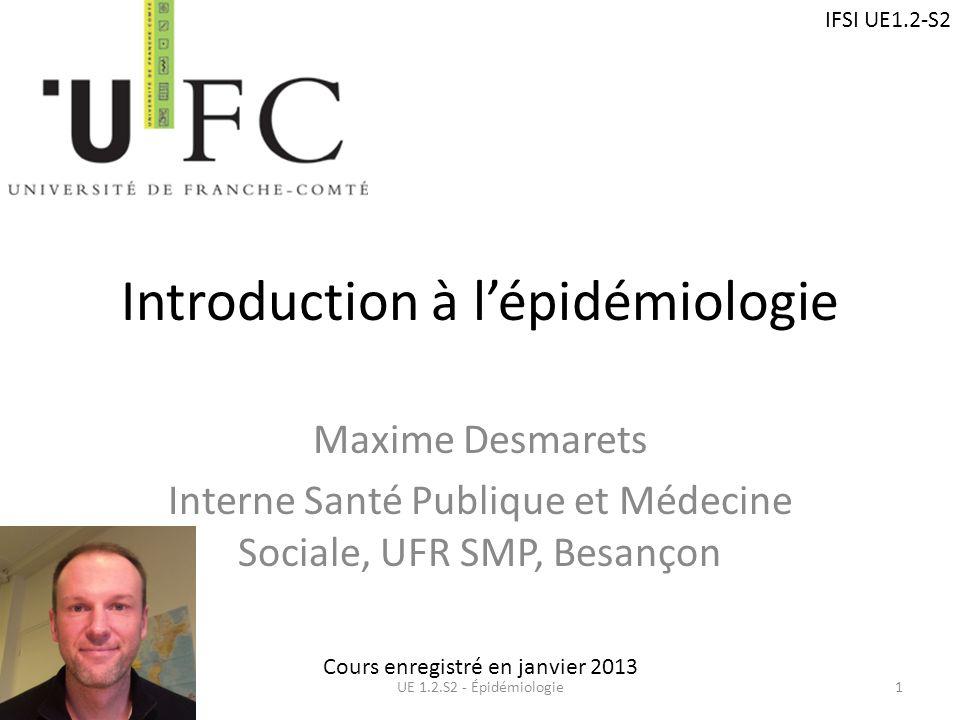 Introduction à l'épidémiologie