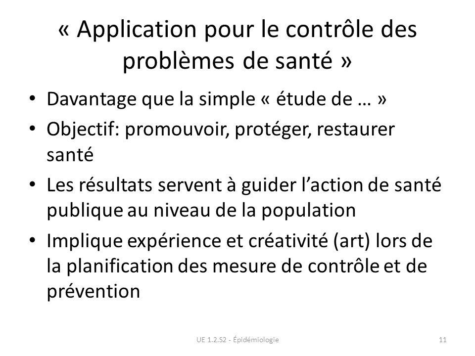 « Application pour le contrôle des problèmes de santé »