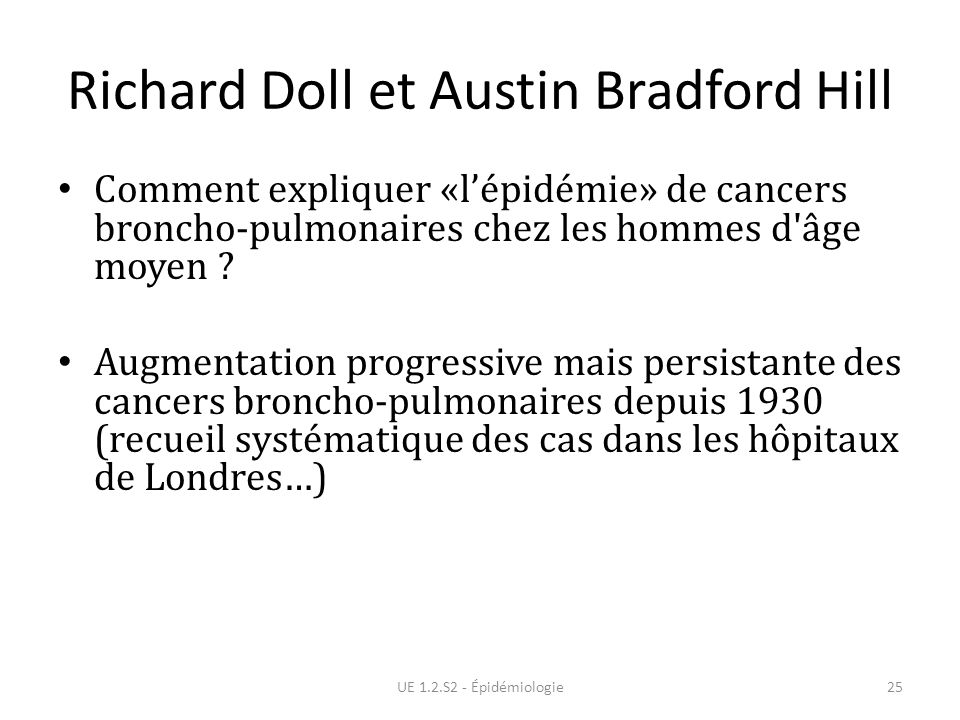 Richard Doll et Austin Bradford Hill