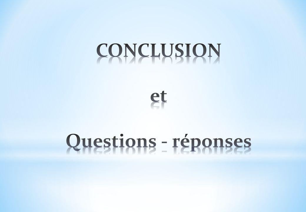 CONCLUSION et Questions - réponses
