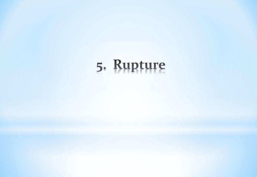 5. Rupture