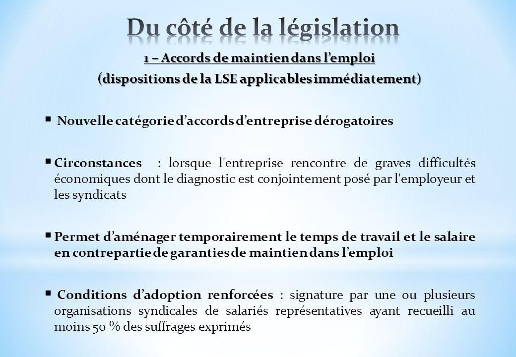 Du côté de la législation