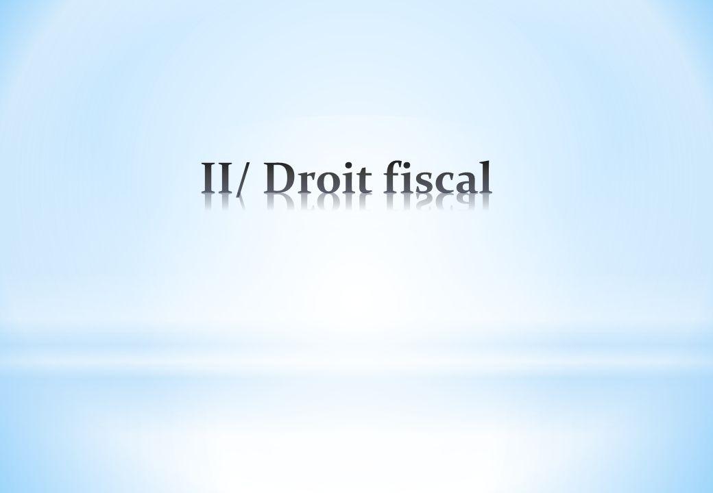 II/ Droit fiscal
