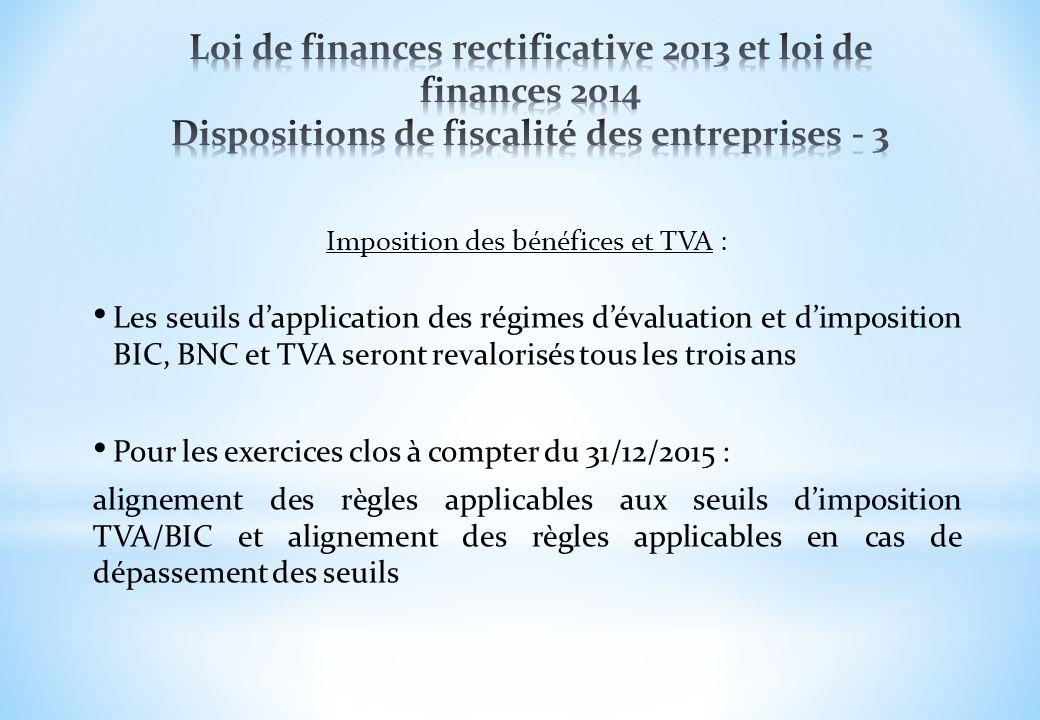 Imposition des bénéfices et TVA :