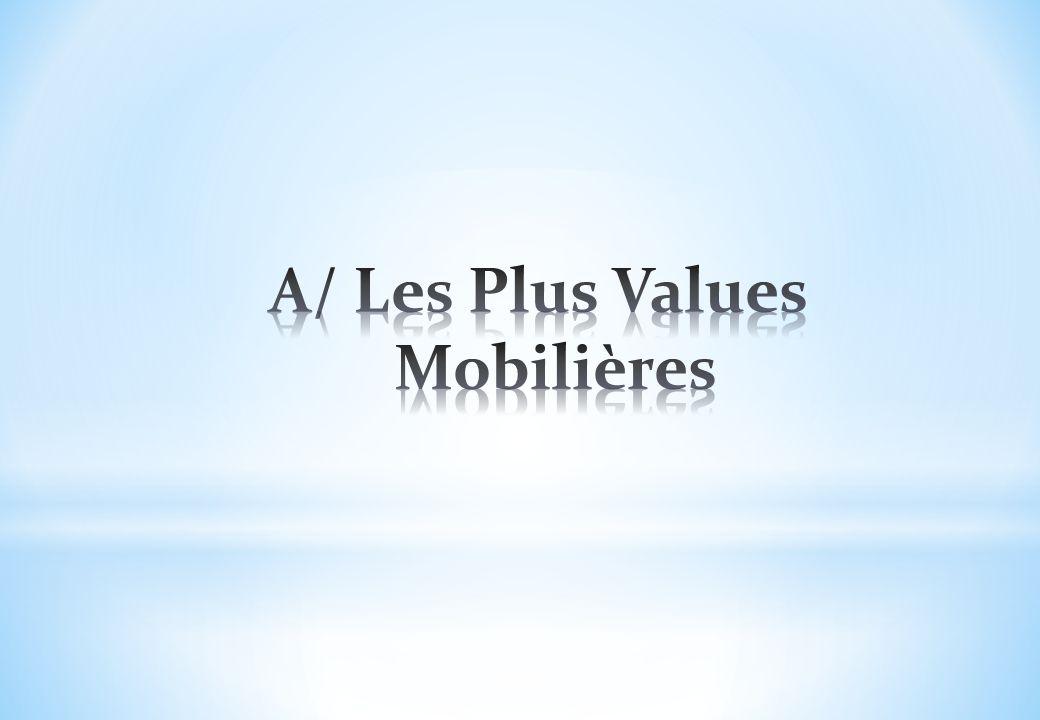 A/ Les Plus Values Mobilières