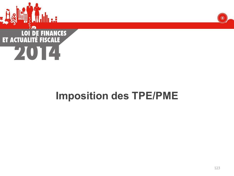 Imposition des TPE/PME