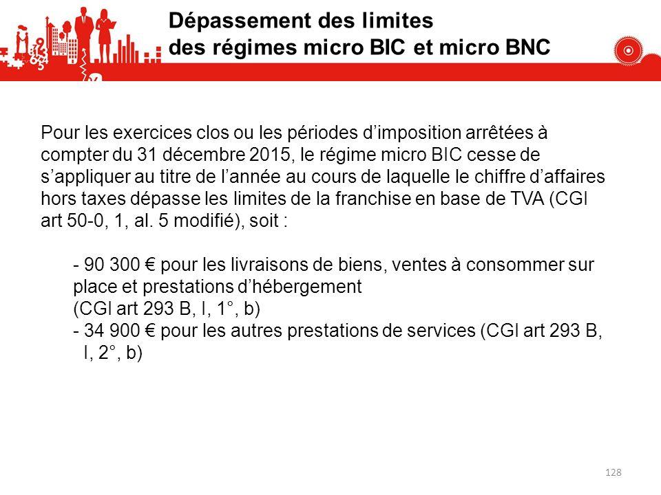 Dépassement des limites des régimes micro BIC et micro BNC