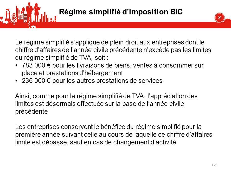 Régime simplifié d'imposition BIC