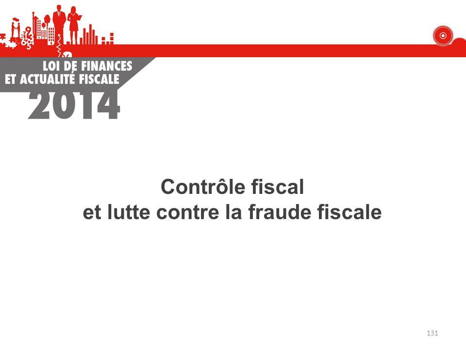 et lutte contre la fraude fiscale