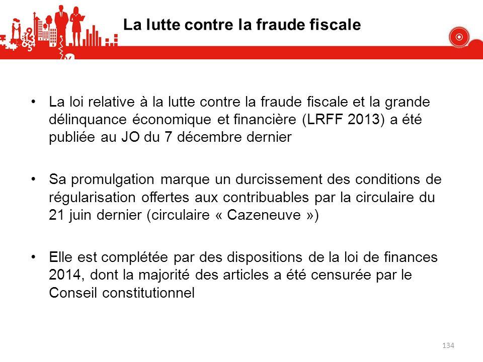La lutte contre la fraude fiscale