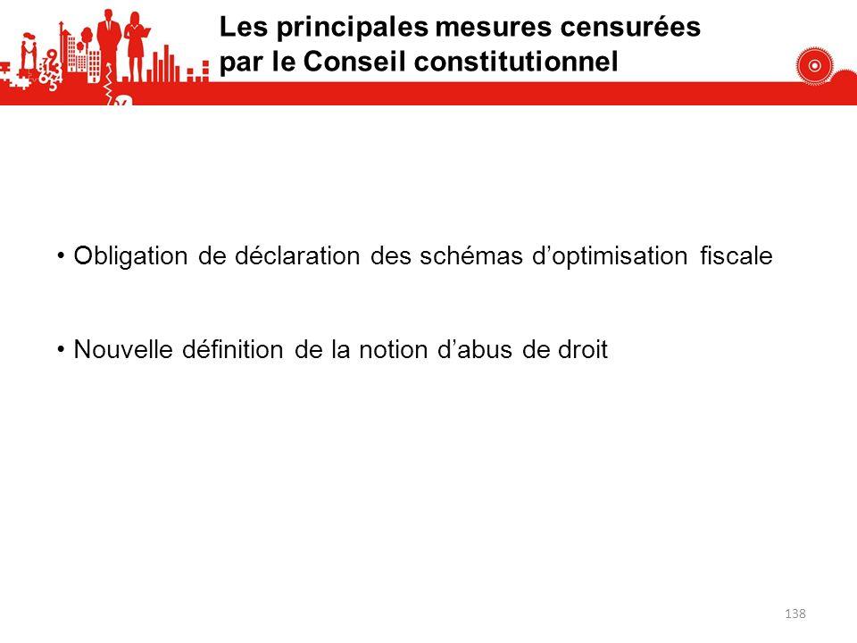 Les principales mesures censurées par le Conseil constitutionnel