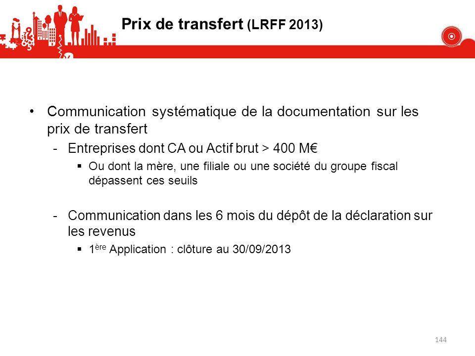 Prix de transfert (LRFF 2013)