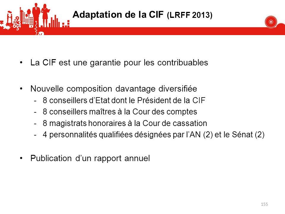 Adaptation de la CIF (LRFF 2013)
