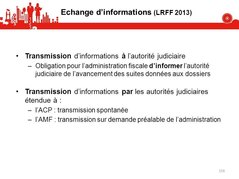 Echange d'informations (LRFF 2013)