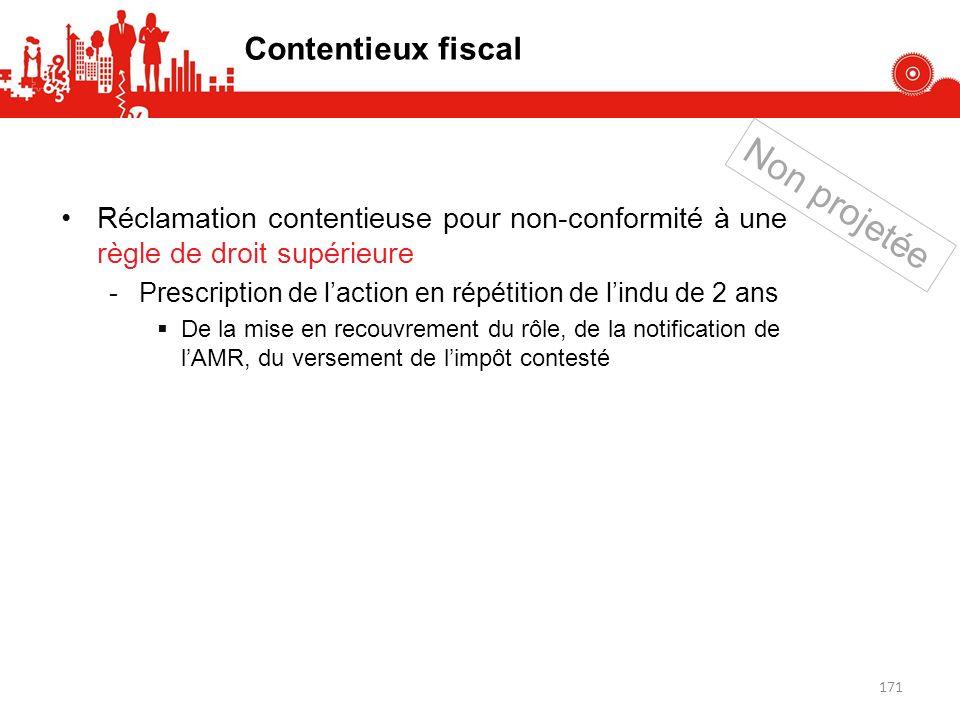 Non projetée Contentieux fiscal
