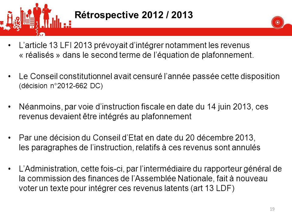 Rétrospective 2012 / 2013