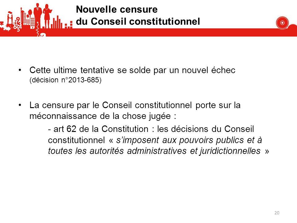 Nouvelle censure du Conseil constitutionnel
