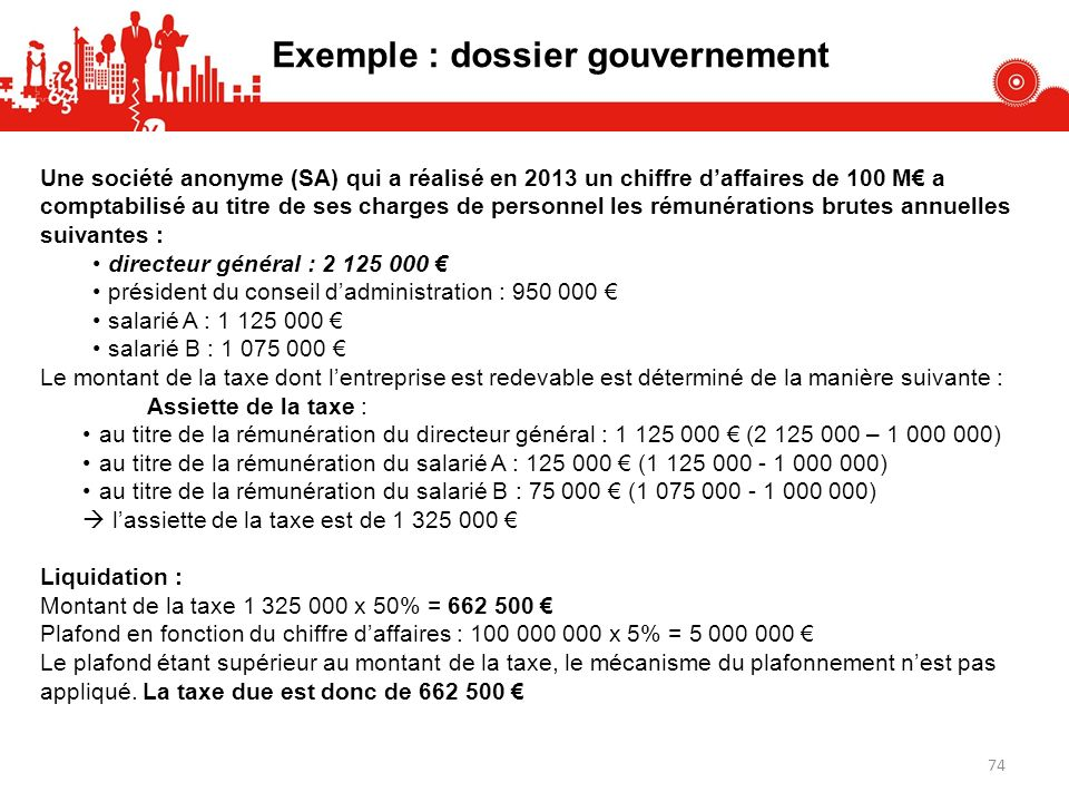 Exemple : dossier gouvernement