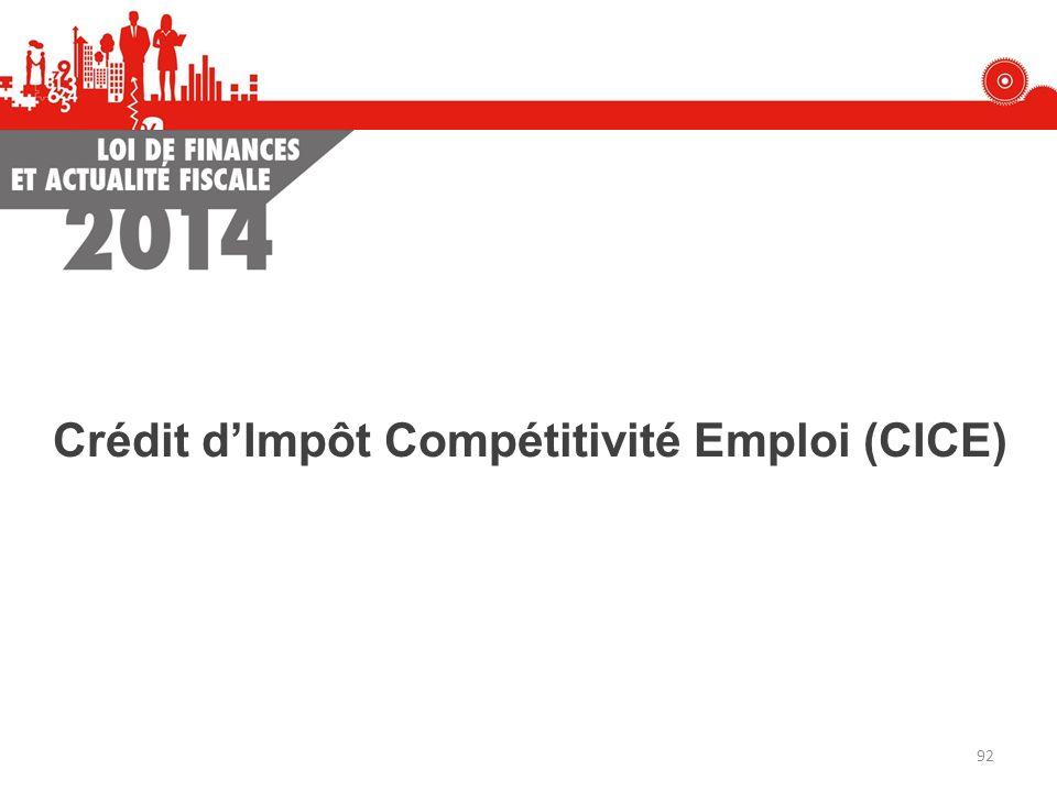 Crédit d'Impôt Compétitivité Emploi (CICE)