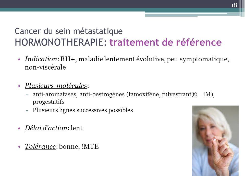 Cancer du sein métastatique HORMONOTHERAPIE: traitement de référence