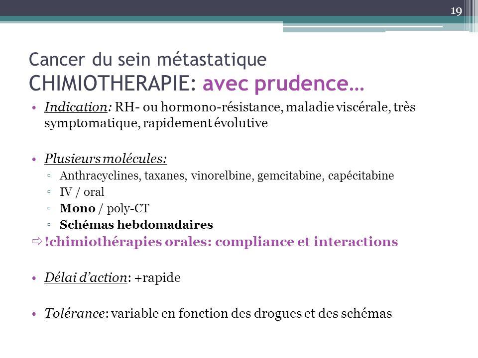 Cancer du sein métastatique CHIMIOTHERAPIE: avec prudence…