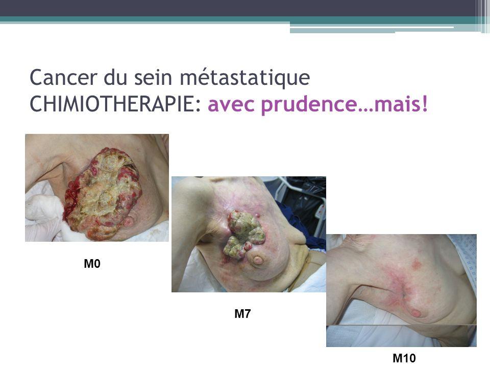 Cancer du sein métastatique CHIMIOTHERAPIE: avec prudence…mais!