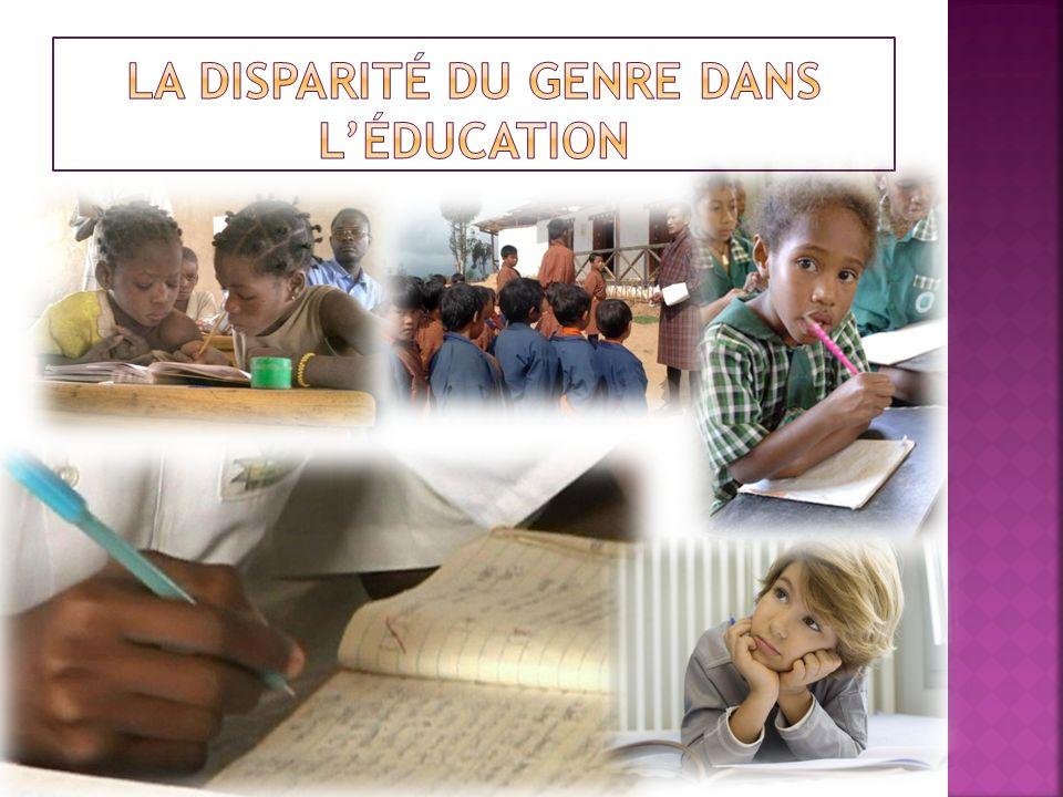 La disparité du genre dans l'éducation