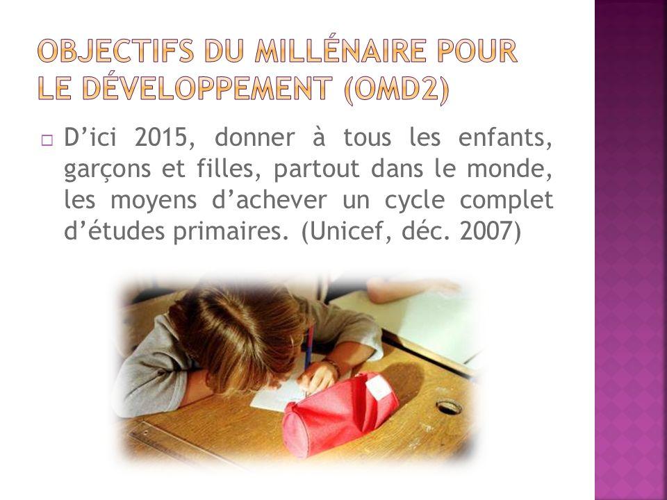 Objectifs du millénaire pour le développement (OMD2)