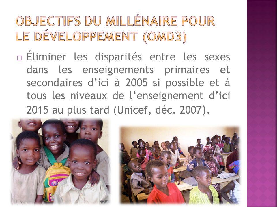 Objectifs du millénaire pour le développement (OMD3)