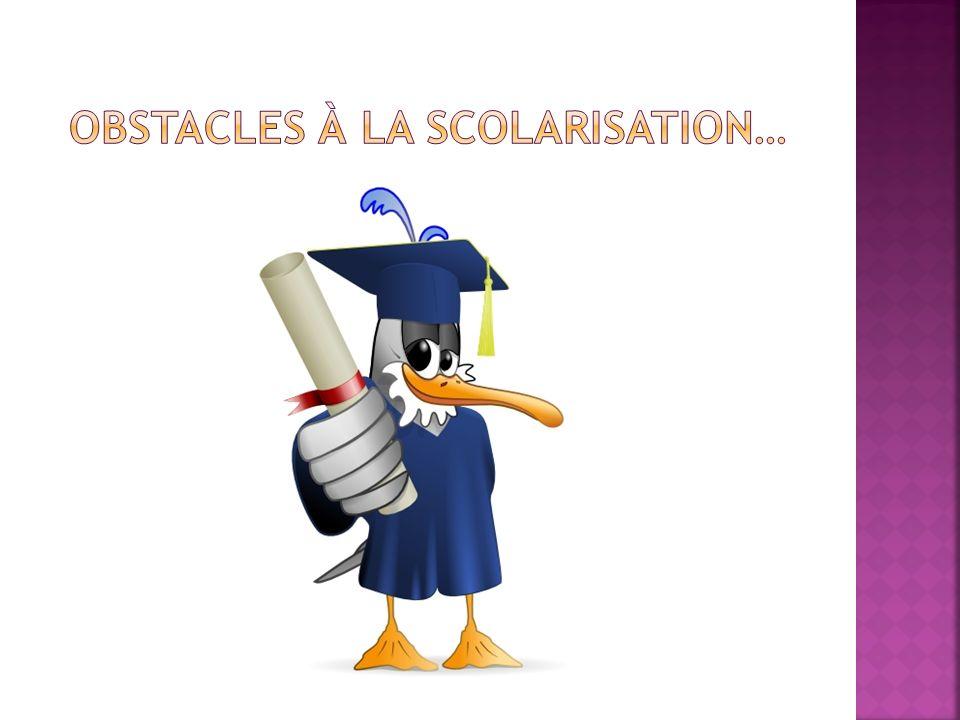 Obstacles à la scolarisation…