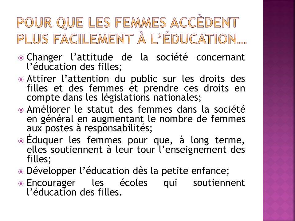 Pour que les femmes accèdent plus facilement à l'éducation…